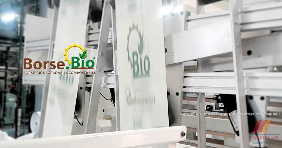 Produzione borse biodegradabili per negozio