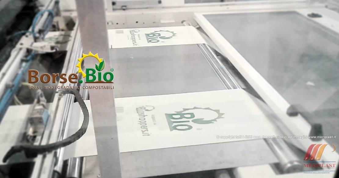 Produzione borse biodegradabili per supermercato